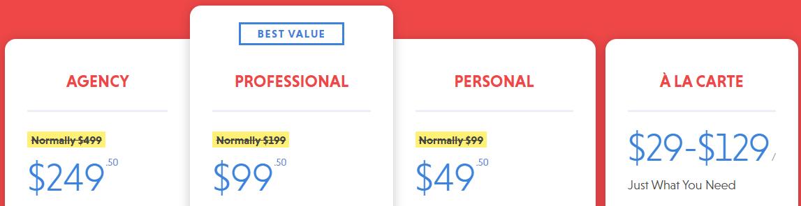 ninja form pricing plans
