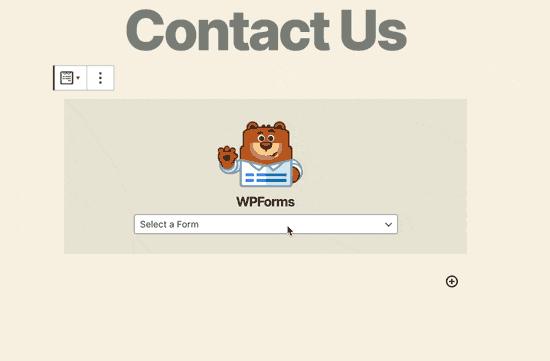WPForms select a form