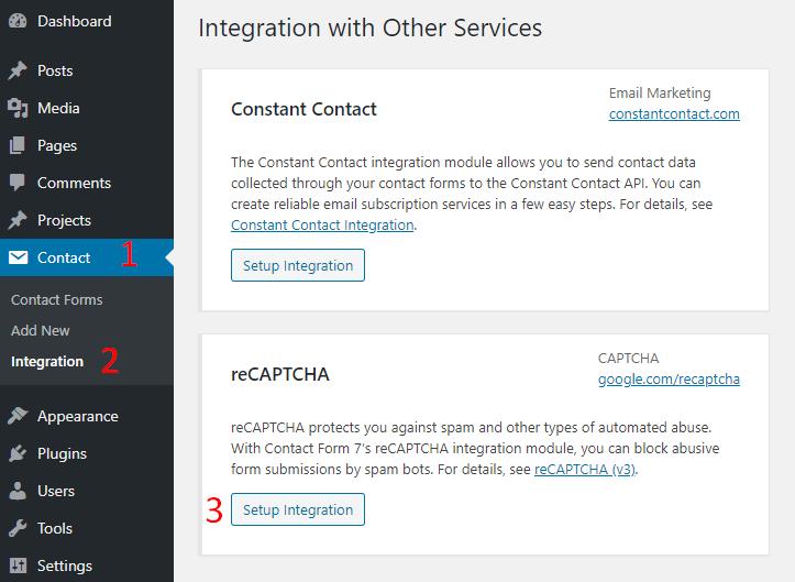 recaptcha contact form 7 integration