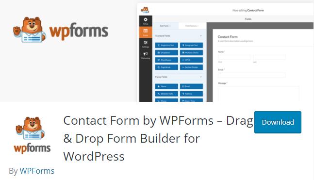 wordpress contact form plugin-wpforms
