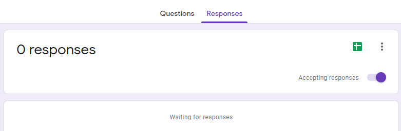accepting responses in Google Form survey