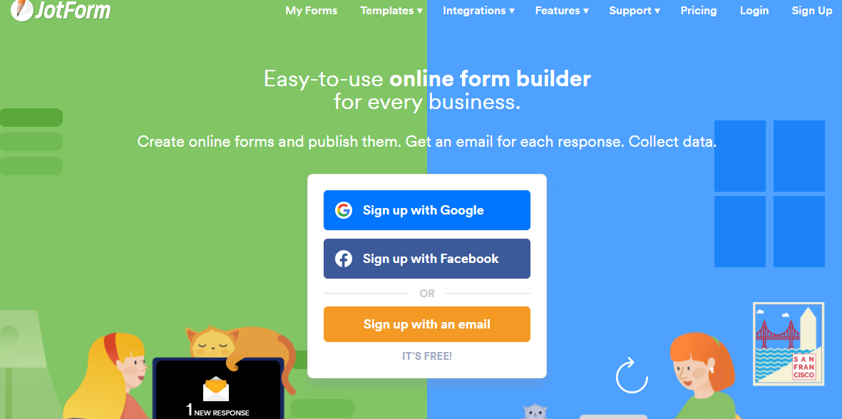 free web form builder - Jotform