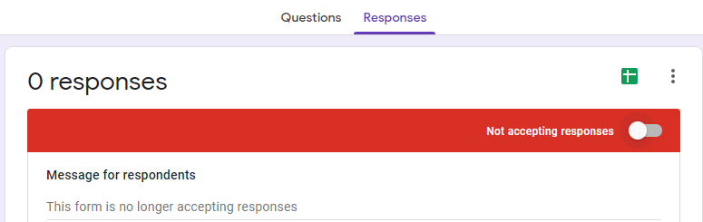 """turn the """"not accepting response mode"""" on"""