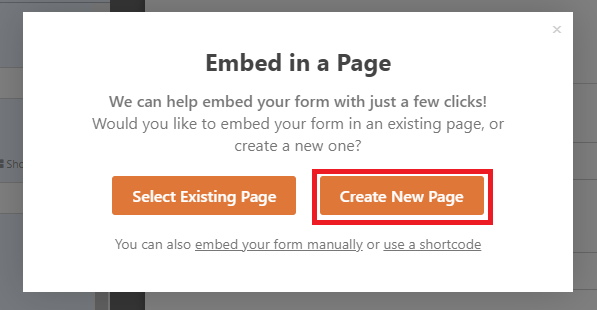 create new page