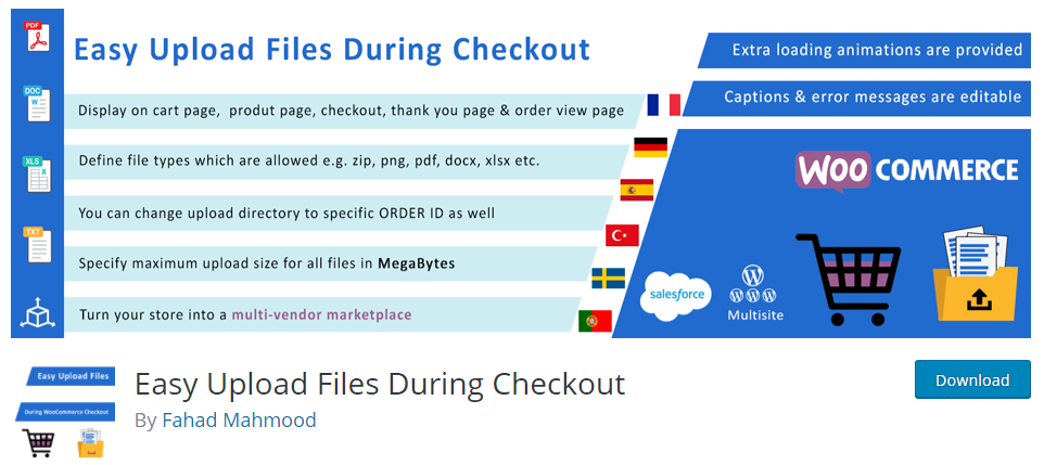 Easy Upload Files During Checkouts plugin