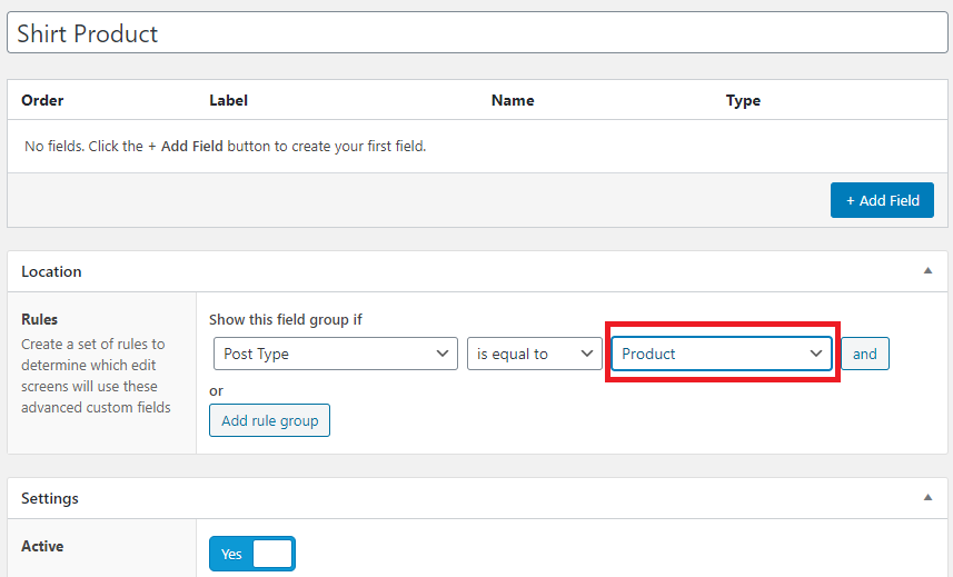 setting post types equal products