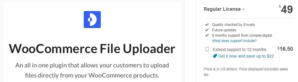 WooCommerce Ajax File Uploads plugin