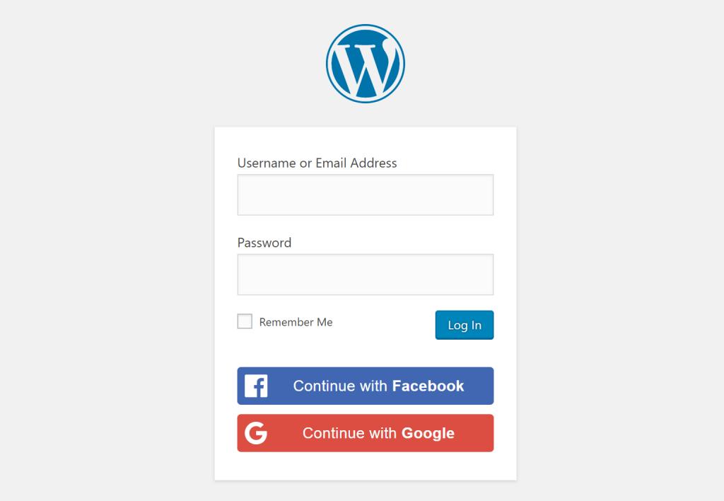 add social login to WordPress