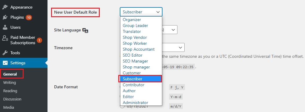 assign the Subscriber role to new users