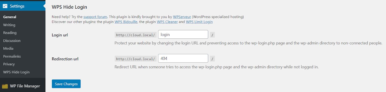 Change WordPress login page URL