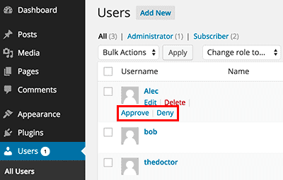 require admin approval for new users