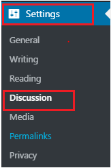 go to WordPress Settings, choose Discussion