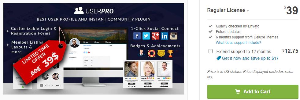 UserPro-User Profile with Social Login