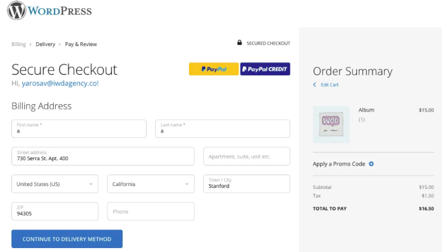 WooCommerce One Page Checkout Suite