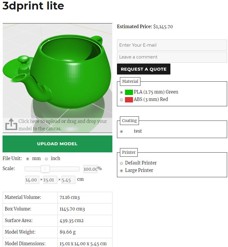 3DPrint Lite's model adjustment