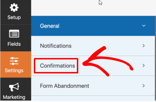 choose Settings, then Confirmation
