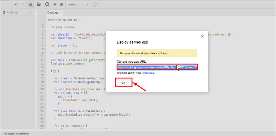 copy current web app's URL