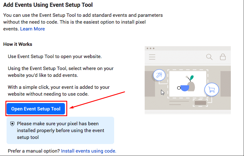 open Event Setup Tool