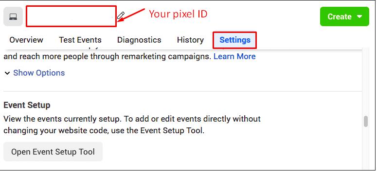 select Facebook Pixel ID