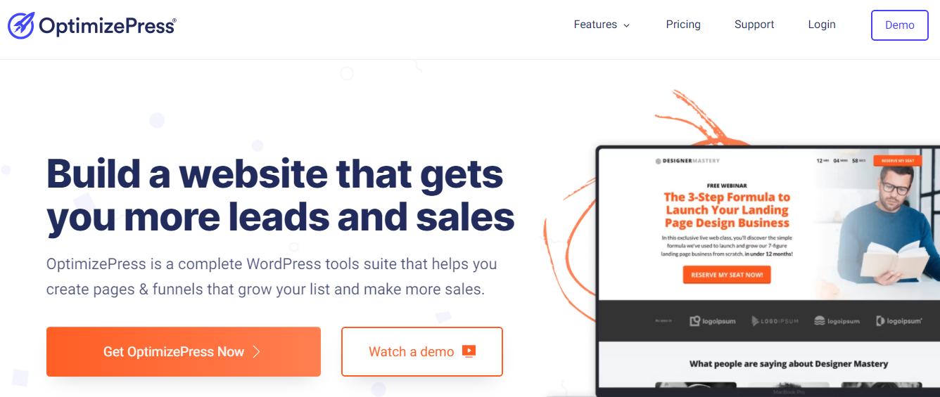 WordPress landing page plugin - OptimizePress