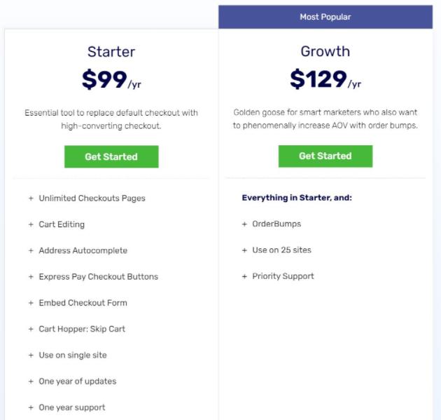 Aero Checkout pricing
