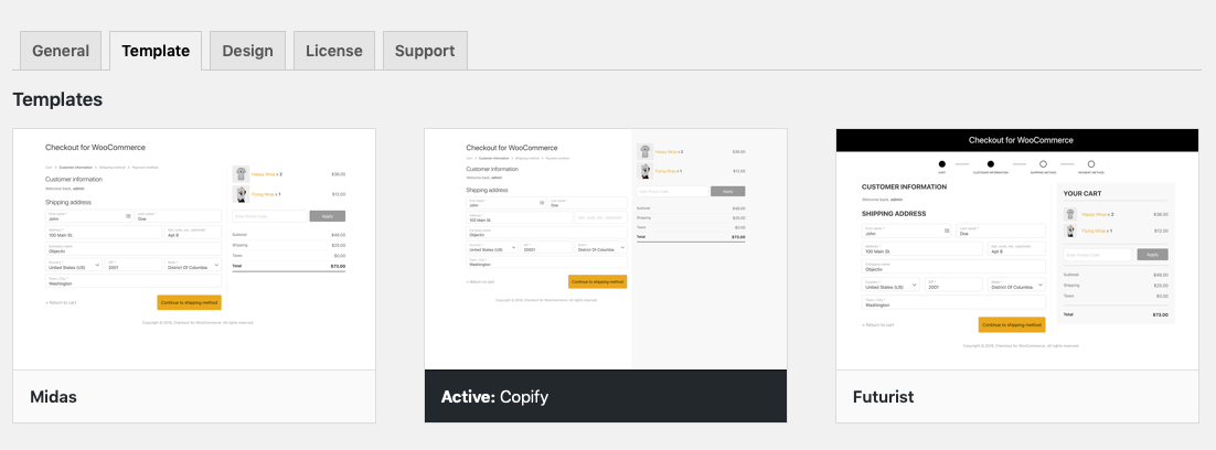CheckoutWC's Copify template