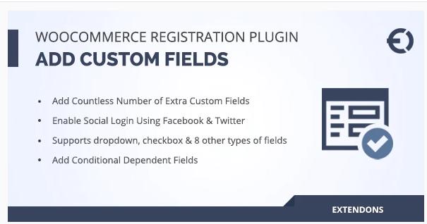 WooCommerce Registration Fields Plugin by Extendons