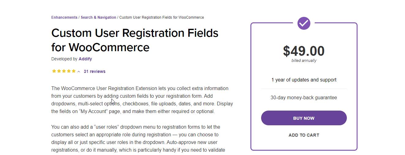 WooCommerce Registration Plugin by Addify