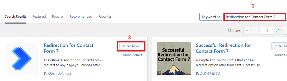 install Redirect For Contact Form 7
