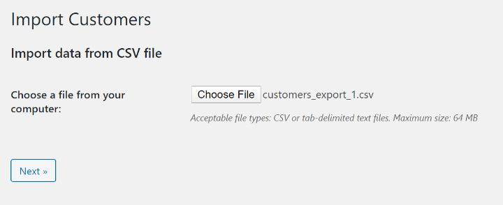 upload csv file