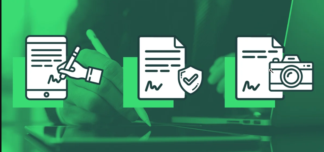 the process of signing digital signatures