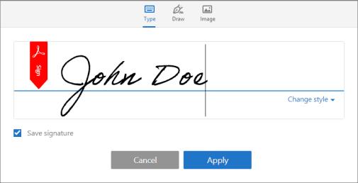 Adobe Reader signatures