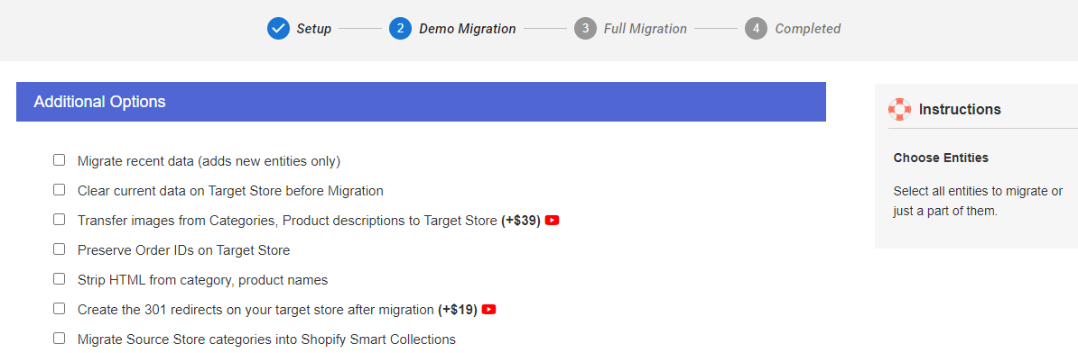additional migration options