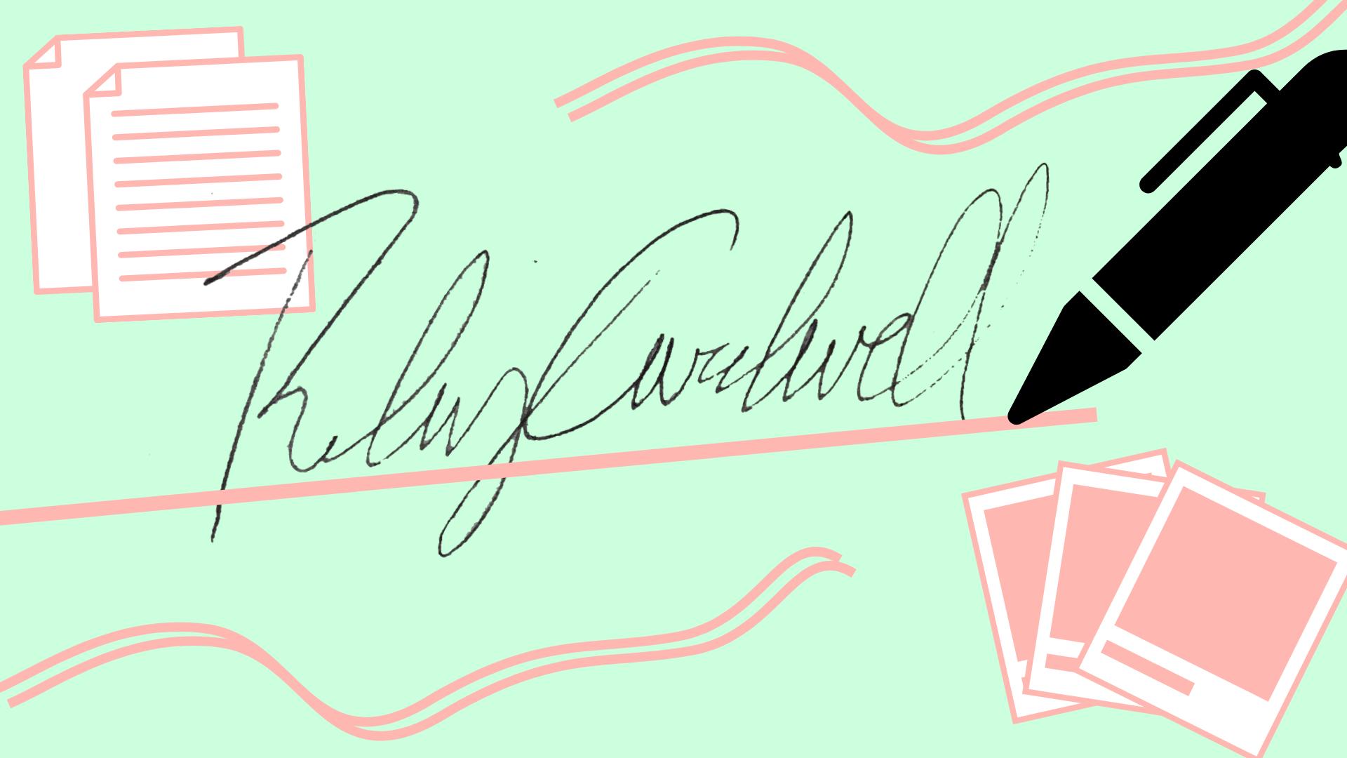 create transparent signatures