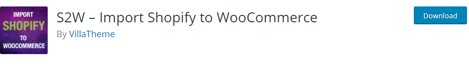 S2W Import Shopify to Woocommerce