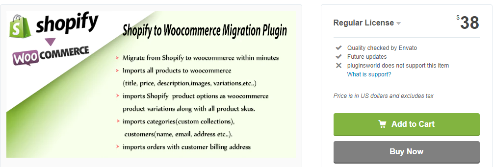 Shopify to WooCommerce Migration plugin