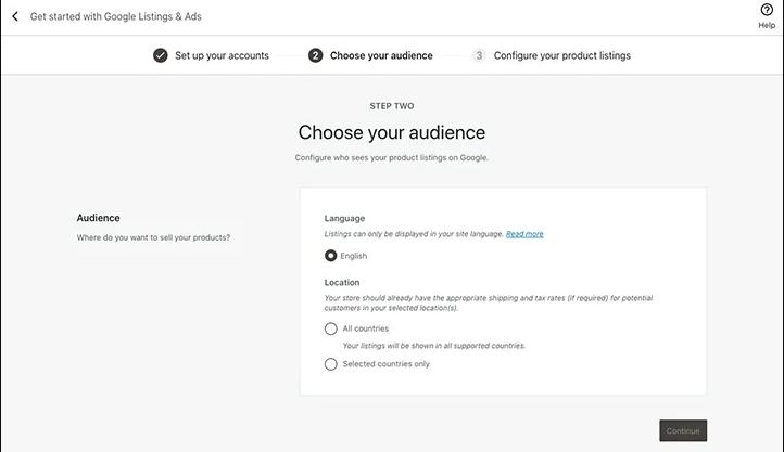 choose audience