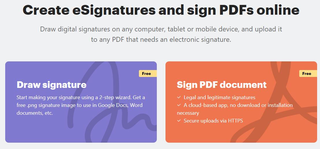 create transparent signatures online