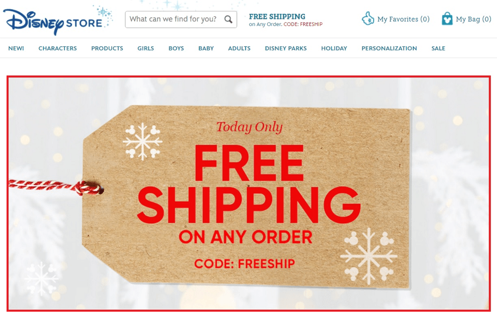 Disney free shipping condition