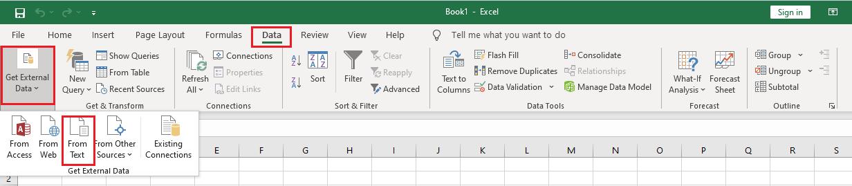 get external data from text