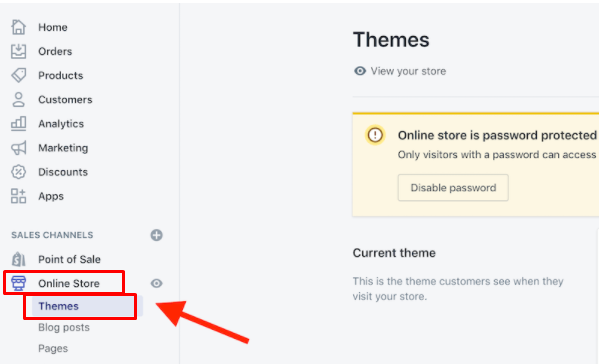 online store themes