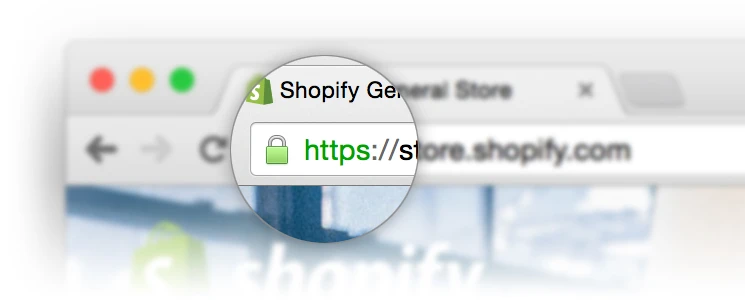 SSL certificate Shopify security padlock