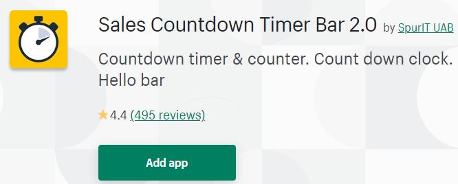sales countdown time bar